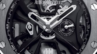 The Audemars Piguet Laptimer steadily circles the track