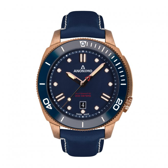 Auto - Bronze Case Blue Dial