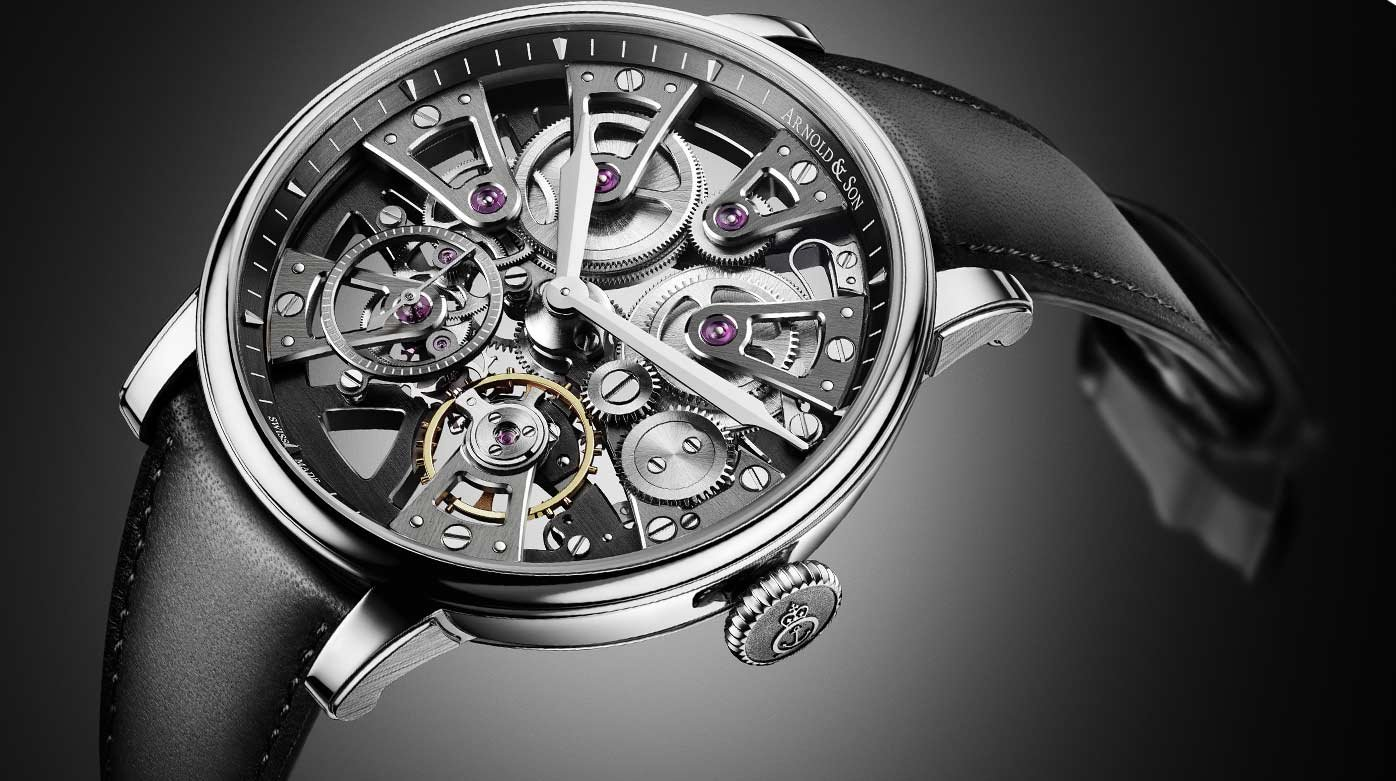 Arnold & Son -  Nebula 38 Steel: The mechanistic aesthetics
