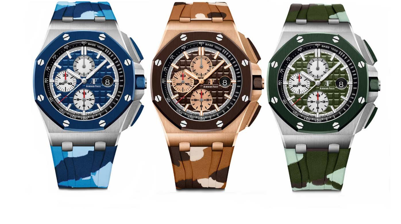 Audemars Piguet - SIHH preview: Royal Oak Offshore Chronographs in camouflage colours