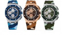 SIHH preview: Royal Oak Offshore Chronographs in camouflage colours