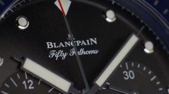 Video. Fifty Fathoms Bathyscaphe Flyback Chronograph BOC II