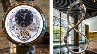 A Bovet clock receives the A' Design Award  Innovation and technology