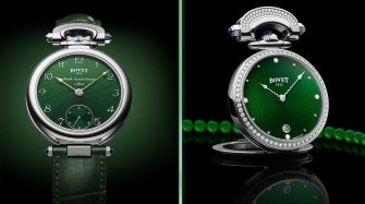 Miss Audrey and Monsieur Bovet in green  Trends and style