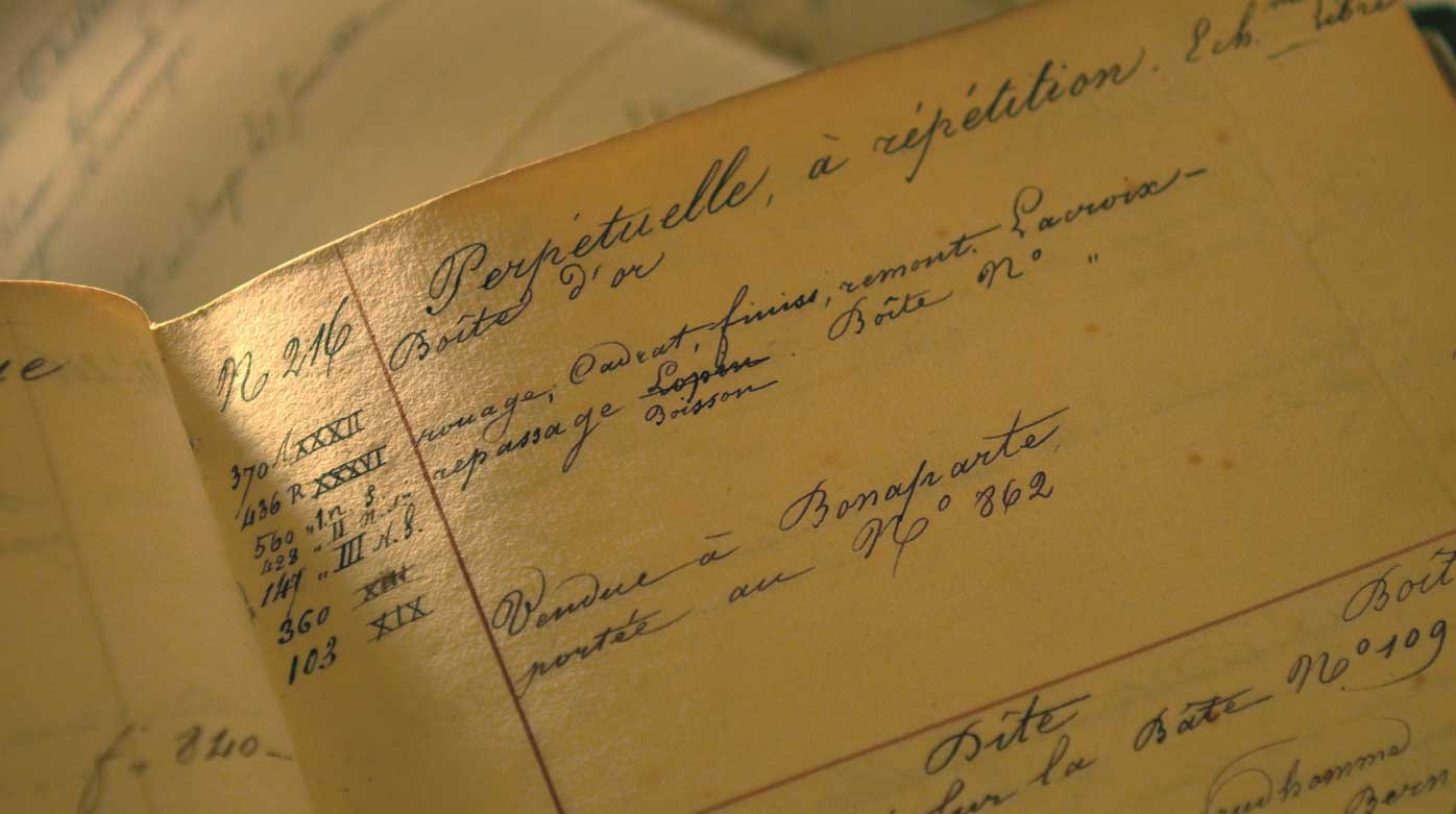 Breguet - Breguet's archives, a description