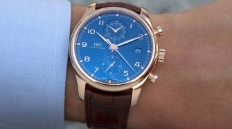 Portugieser Chronograph Classic Bucherer Blue Editions Trends and style