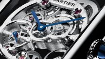 Tank Louis Cartier Sapphire Skeleton watch