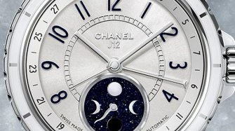 J12 Moonphase, blanche