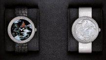 "Mademoiselle Privé Coromandel Dial Set ""Grand Feu"" Enamel and Sculpted Mother of Pearl"