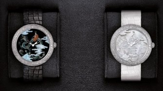 "Mademoiselle Privé Coromandel Dial Set ""Grand Feu"" Enamel and Sculpted Mother of Pearl Trends and style"