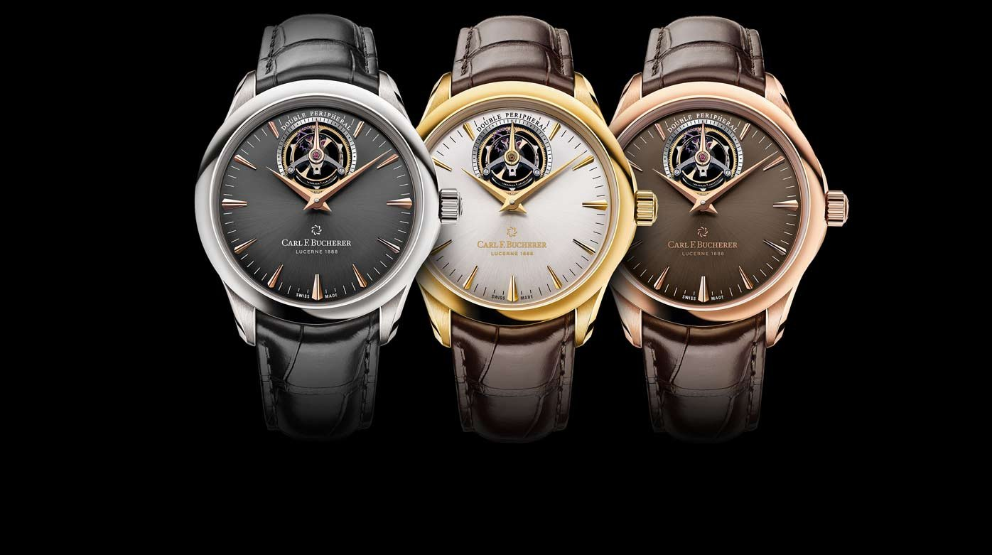 Carl F. Bucherer - Three new Manero Tourbillon DoublePeripheral watches