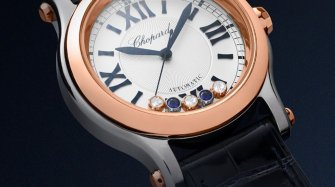 The two-tone Chopard Happy Sport Bucherer Blue Editions