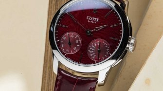 "Quai des Bergues ""Rhubarb Red"" Watches"
