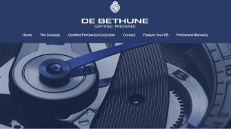 Site officiel « De Bethune Certified Pre-Owned watches »