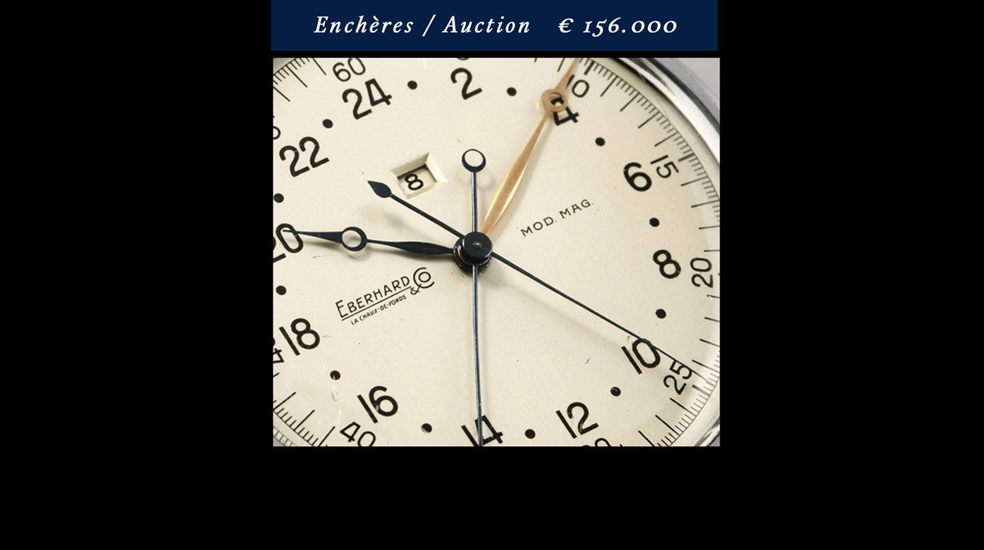 "Eberhard & Co - The ""Sistema Magini"" chronograph sells at autions for 156,000 euros"