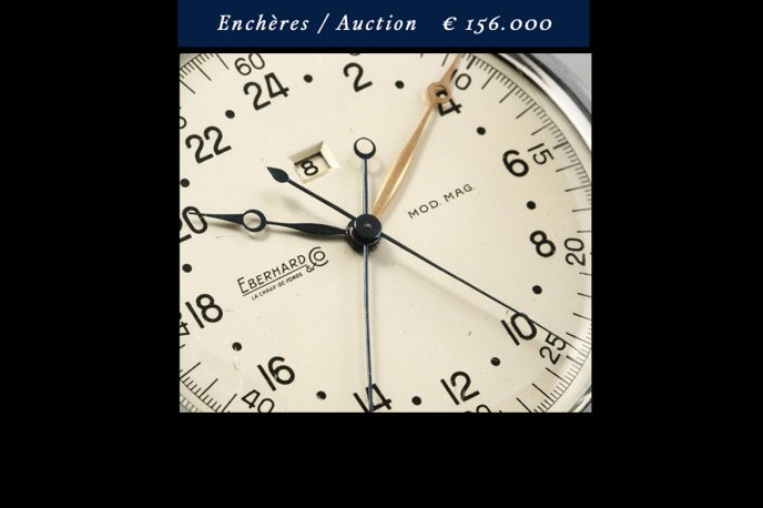 "The ""Sistema Magini"" chronograph sells at autions for 156,000 euros"