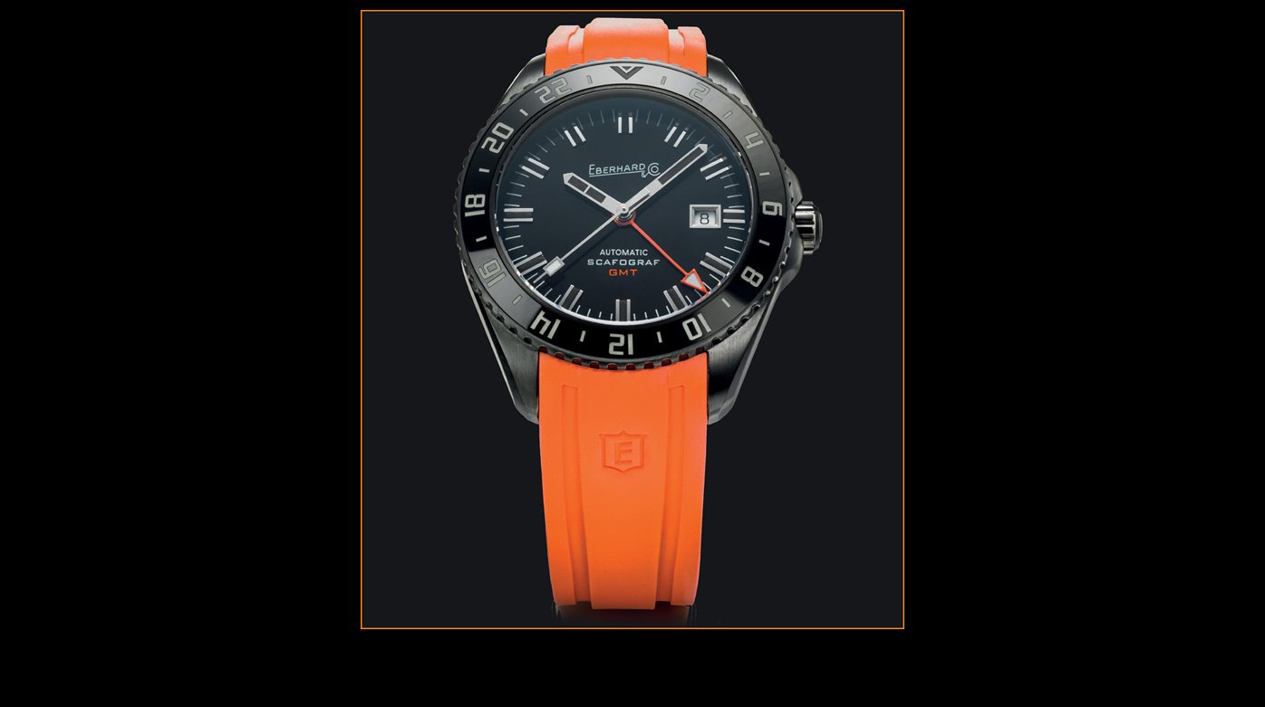 "Eberhard & Co. - An orange strap for the Scafograf GMT ""The Black Sheep"""