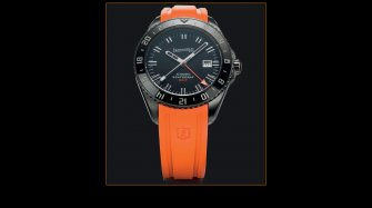An orange strap for the Scafograf GMT