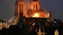 Notre Dame seen in watches