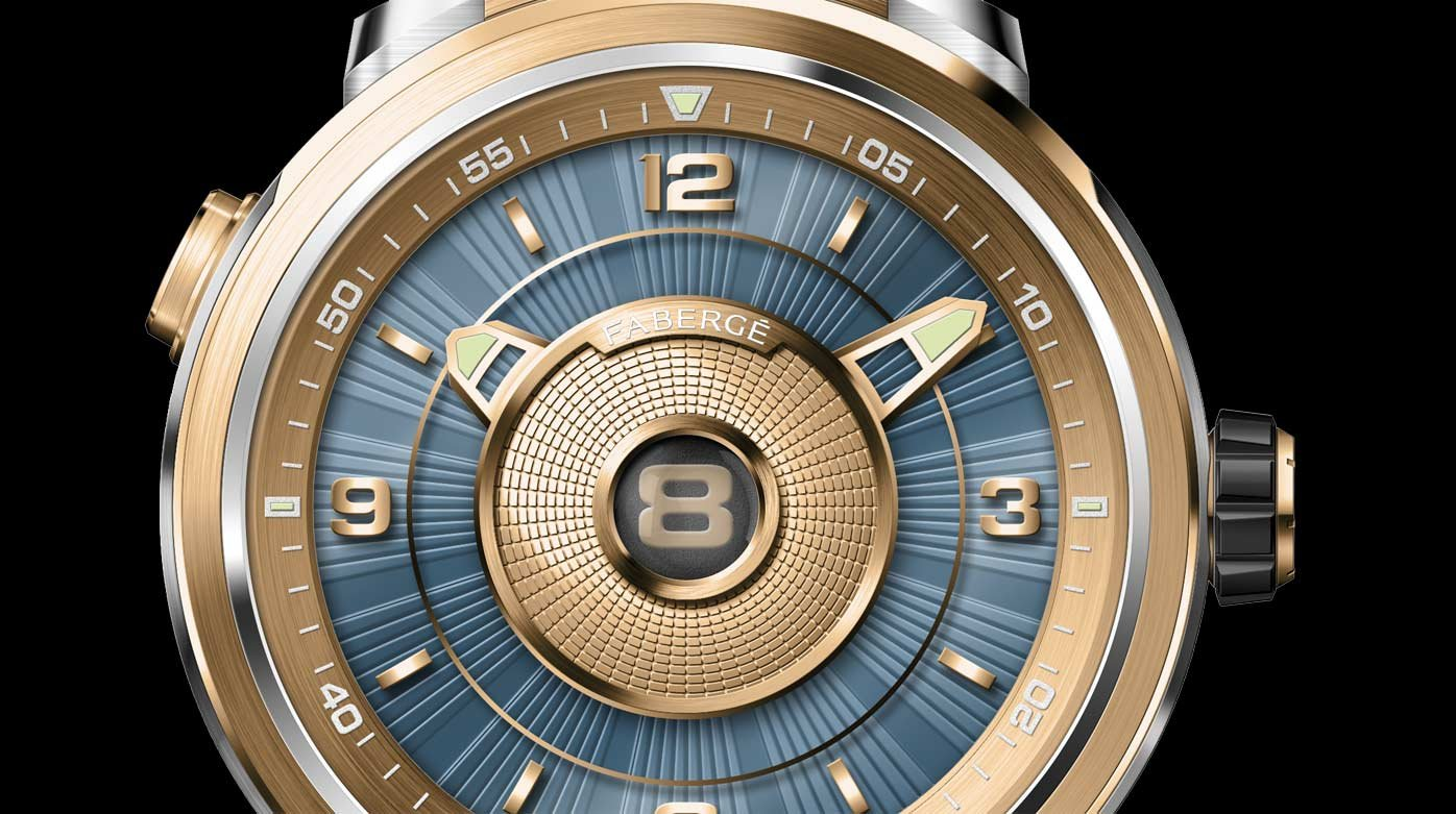 Fabergé - Modern vintage: the Fabergé Visionnaire DTZ in yellow gold