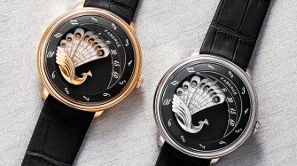 Lady Compliquée Peacock Black in rose gold Watches