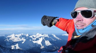Adrian Ballinger summits Mt. Everest wearing the Raider Bivouac 9000 Watches
