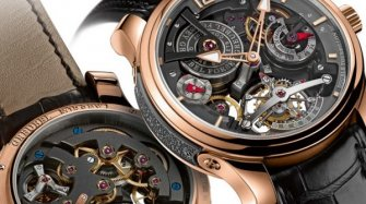 Double Tourbillon Technique 30° Bi-color Innovation and technology