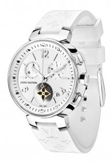 Tambour Moon Star Chronograph White