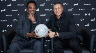 Pelé-Mbappé, meeting in Paris People and interviews