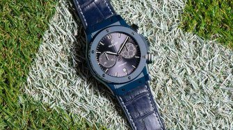 Pelé unveils the new UEFA Champions League watch