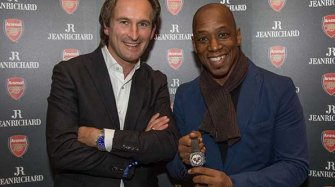Ian Wright helps launch special Arsenal watch and clock set