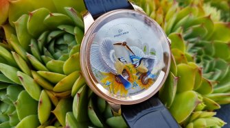 A luminous Petite Heure Minute Relief Seasons Summer