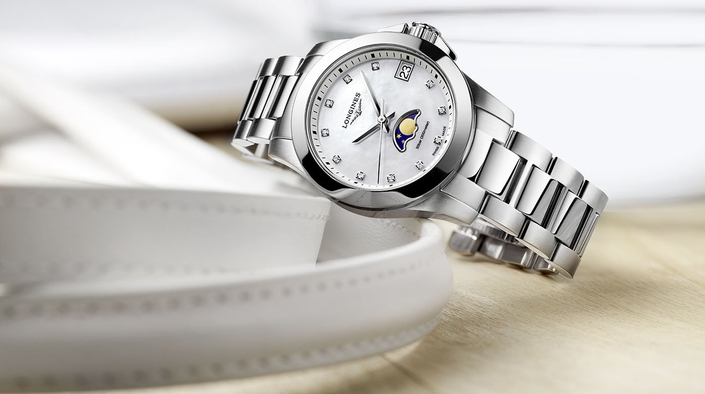 grand choix de cfe68 6197a Longines - Conquest Phases de lune - Style & Tendance ...
