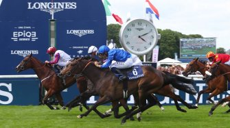 Laurens makes an astounding win at the 2018 Prix de Diane Longines Sport