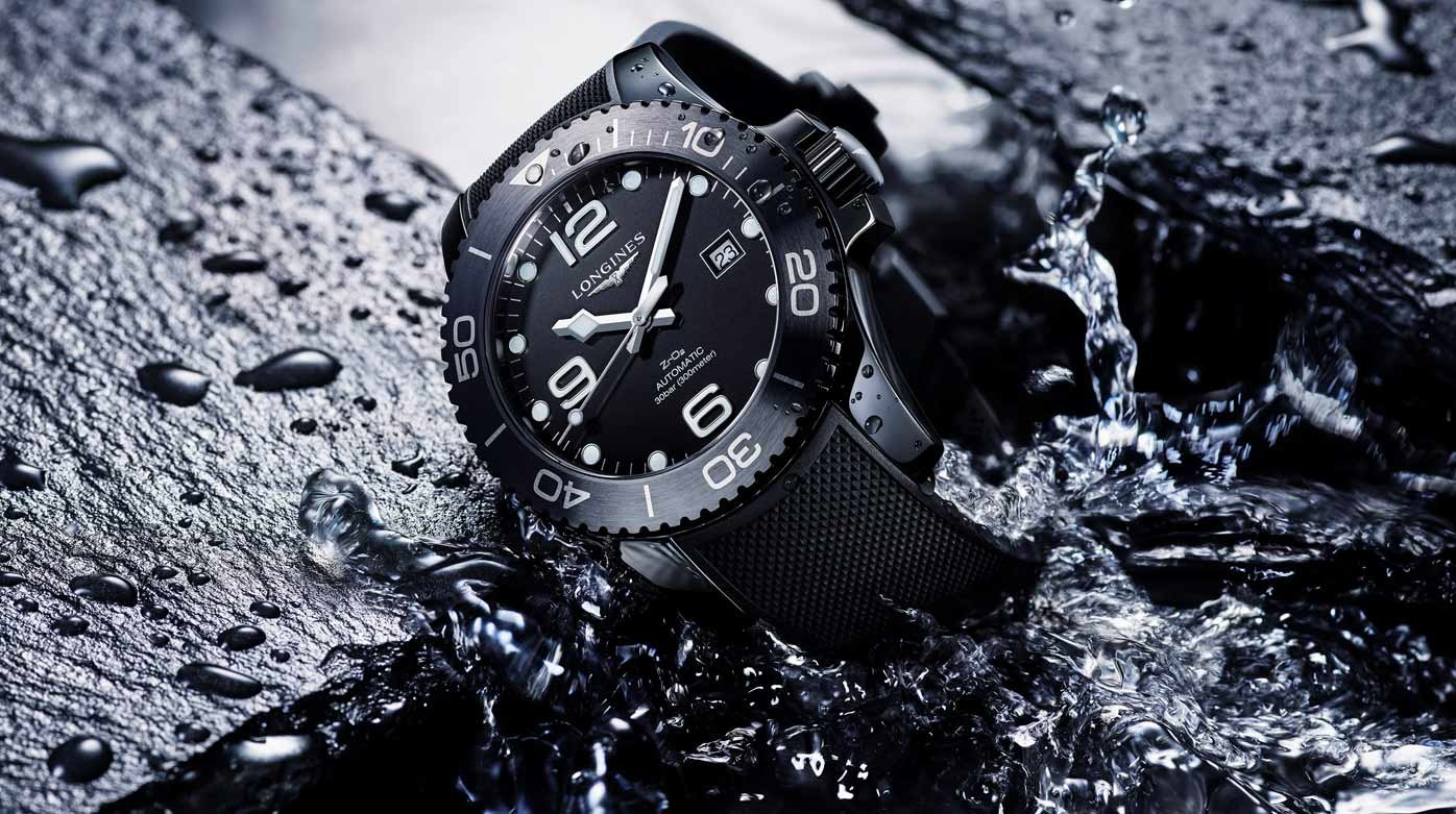 Longines - HydroConquest, black ceramic