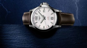 Longines adorns its Conquest V.H.P. with leather  Trends and style