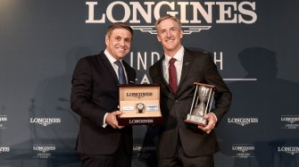 Erik Lindbergh receives the first Longines Lindbergh Award Arts and culture