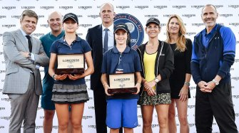 The champions of the 2018 Longines Future Tennis Aces