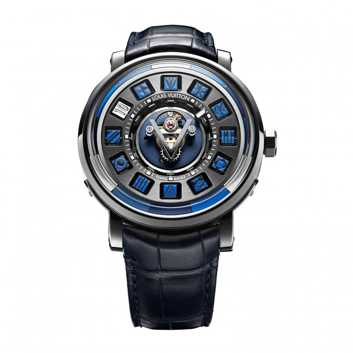 Escale Spin Time Central Tourbillon Blue