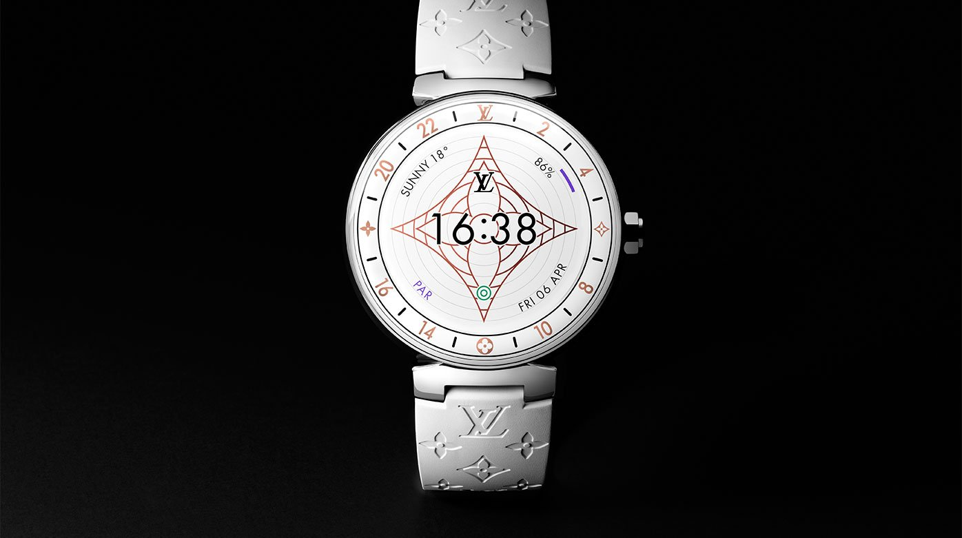 Louis Vuitton - Tambour Horizon Monogram White Time for white