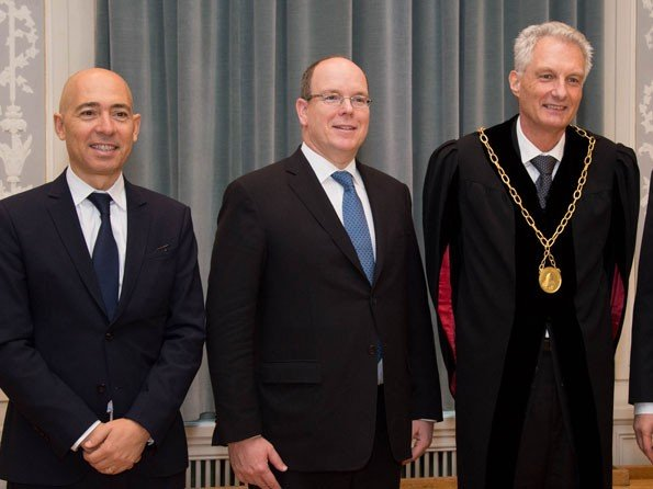 Only Watch  - H.S.H. Prince Albert II of Monaco and Luc Pettavino honoured by the University of Bern