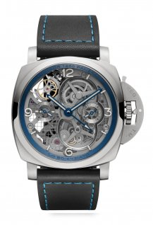 Lo Scienziato Luminor 1950 Tourbillon GMT Titanio – 47mm