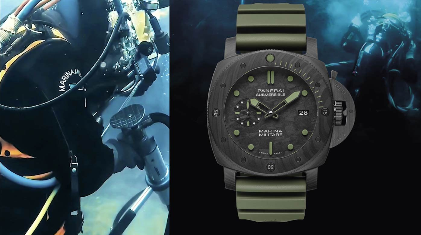 Panerai - The Submersible Marina Militare Carbotech and a commando experience