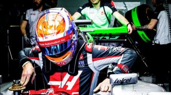 Romain Grosjean et sa RM 011 Quartz TPT Rouge