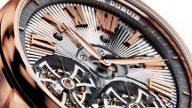 Hommage Double Flying Tourbillon with Hand-made guilloché, pink gold