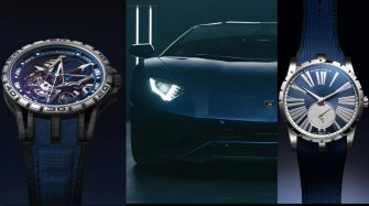 Two Excalibur and one Lamborghini in blue