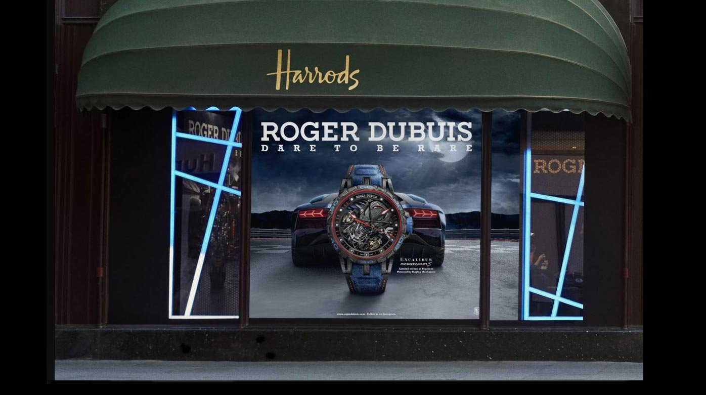 Roger Dubuis - Roger Dubuis and Lamborghini Squadra Corse roar at Harrods