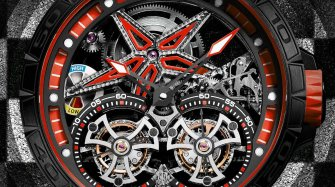 Excalibur Spider Pirelli Double Tourbillon Volant Rouge