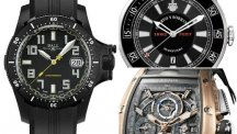 Three tough black sports watches