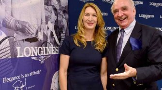 Video. Stefanie Graf opens the Longines store in Paris